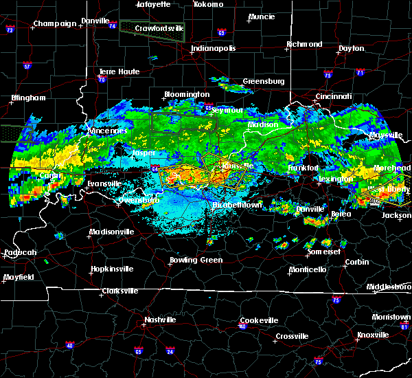 Radar Image for Severe Thunderstorms near Utica, KY at 6/5/2019 9:53 PM EDT