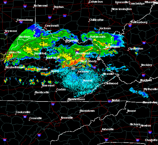 Radar Image for Severe Thunderstorms near Jeffersonville, KY at 6/5/2019 9:56 PM EDT