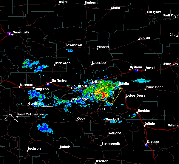 Radar Image for Severe Thunderstorms near Pryor, MT at 6/16/2015 6:53 PM MDT