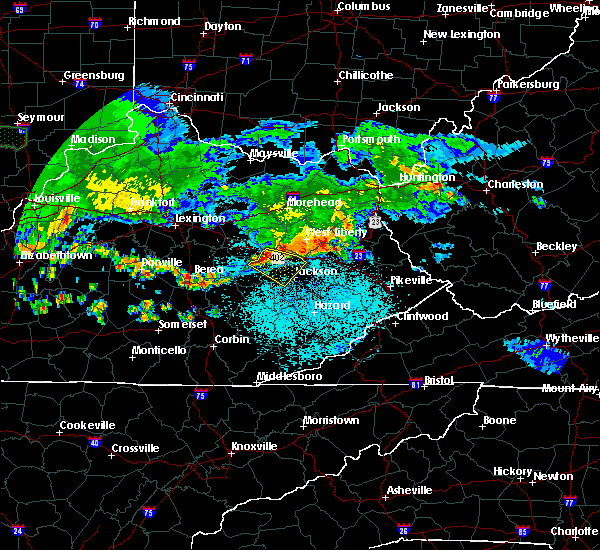 Radar Image for Severe Thunderstorms near Jackson, KY at 6/5/2019 10:20 PM EDT