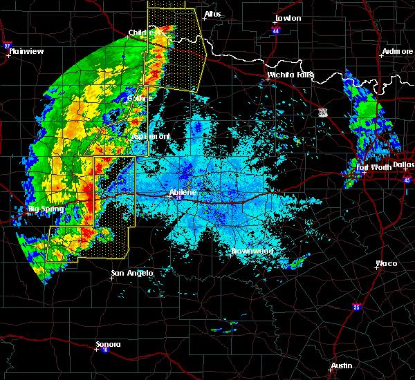 Radar Image for Severe Thunderstorms near Jayton, TX at 6/5/2019 9:23 PM CDT
