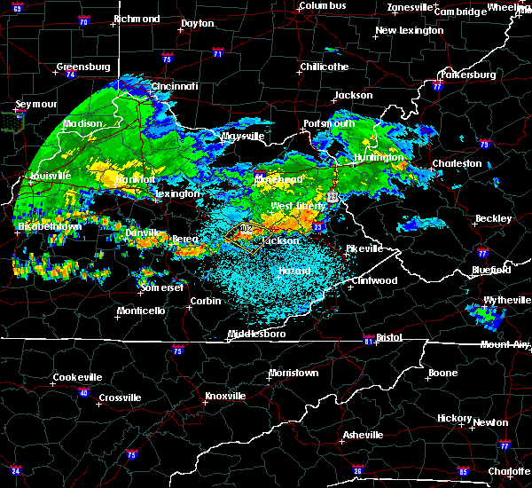 Radar Image for Severe Thunderstorms near Jackson, KY at 6/5/2019 10:36 PM EDT