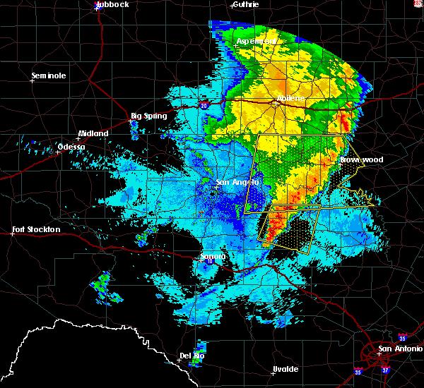 Radar Image for Severe Thunderstorms near Menard, TX at 6/5/2019 11:55 PM CDT