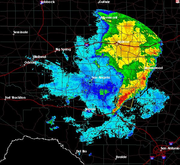 Radar Image for Severe Thunderstorms near Brady, TX at 6/6/2019 12:16 AM CDT