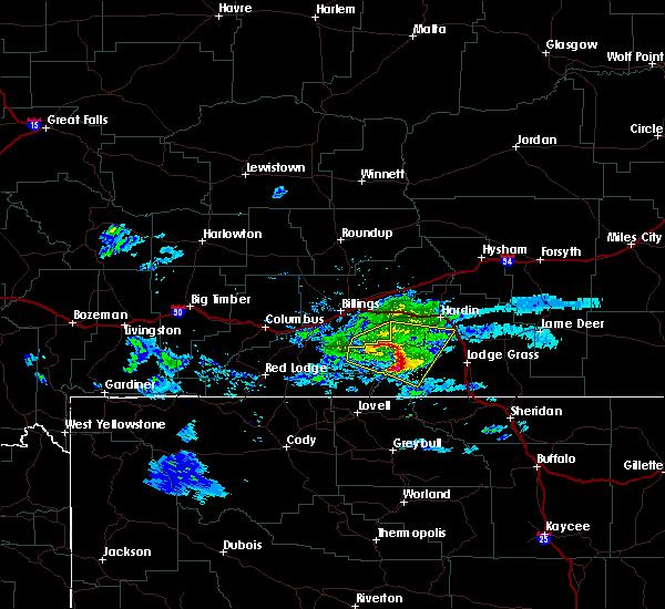 Radar Image for Severe Thunderstorms near Pryor, MT at 6/16/2015 7:14 PM MDT