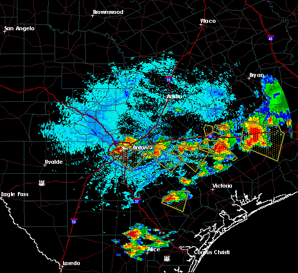 Radar Image for Severe Thunderstorms near Alamo Heights, TX at 6/6/2019 5:52 PM CDT