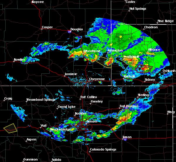 Radar Image for Severe Thunderstorms near Harrisburg, NE at 6/16/2015 7:18 PM MDT