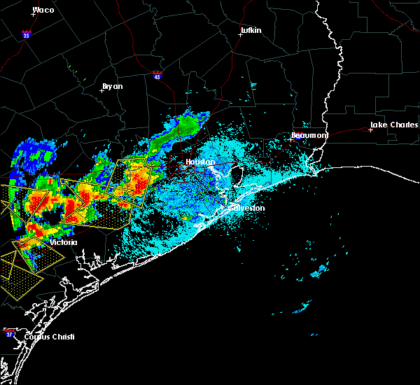 Radar Image for Severe Thunderstorms near Orchard, TX at 6/6/2019 6:24 PM CDT