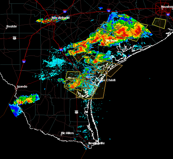 Radar Image for Severe Thunderstorms near Corpus Christi, TX at 6/6/2019 7:16 PM CDT