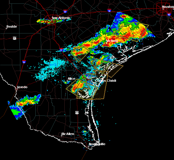Radar Image for Severe Thunderstorms near Corpus Christi, TX at 6/6/2019 7:29 PM CDT