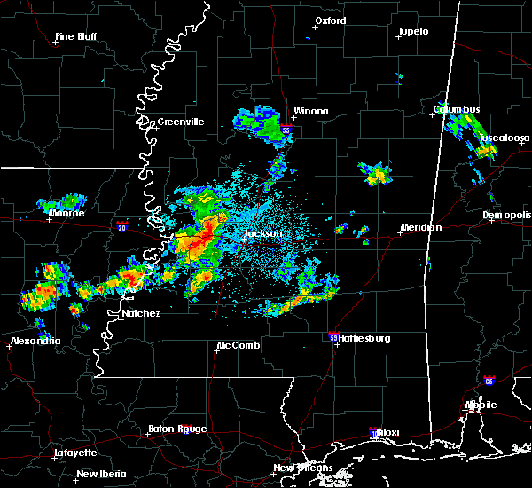 Radar Image for Severe Thunderstorms near Flowood, MS at 6/7/2019 3:36 AM CDT