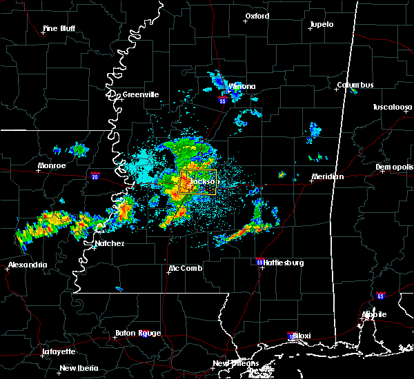 Radar Image for Severe Thunderstorms near Flowood, MS at 6/7/2019 4:02 AM CDT