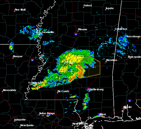 Radar Image for Severe Thunderstorms near Bay Springs, MS at 6/7/2019 7:56 AM CDT