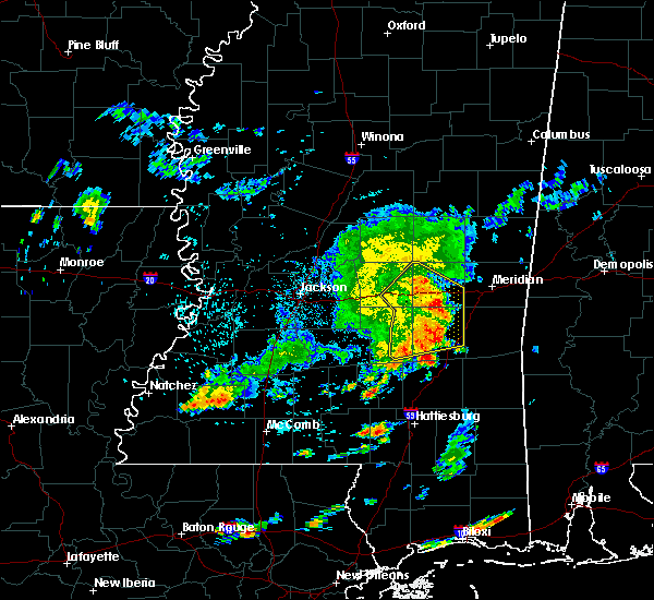 Radar Image for Severe Thunderstorms near Lauderdale, MS at 6/7/2019 8:46 AM CDT