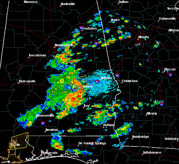 Radar Image for Severe Thunderstorms near Montgomery, AL at 6/7/2019 1:13 PM CDT