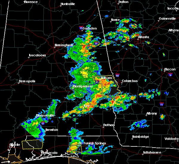 Radar Image for Severe Thunderstorms near Ladonia, AL at 6/7/2019 2:10 PM CDT