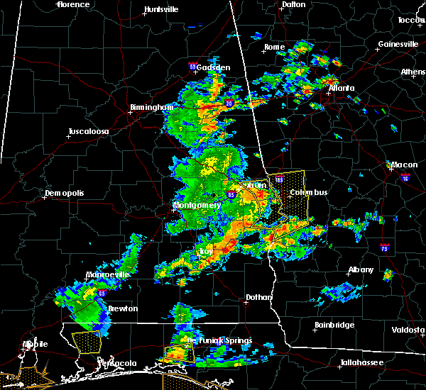 Radar Image for Severe Thunderstorms near Eufaula, AL at 6/7/2019 3:15 PM EDT