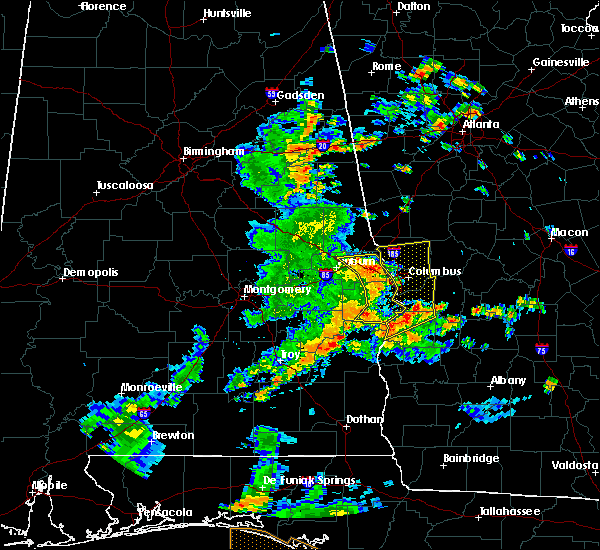 Radar Image for Severe Thunderstorms near Ladonia, AL at 6/7/2019 2:27 PM CDT