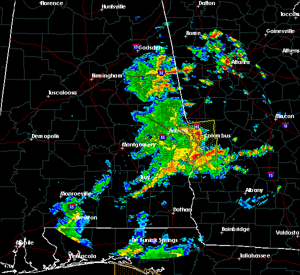 Radar Image for Severe Thunderstorms near Ladonia, AL at 6/7/2019 2:34 PM CDT