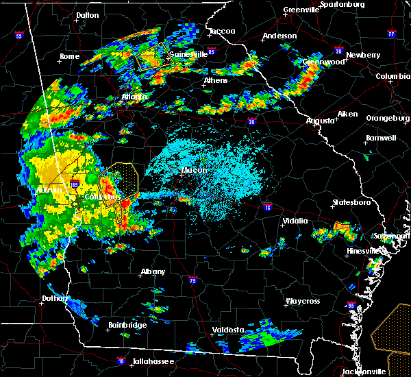 Radar Image for Severe Thunderstorms near Butler, GA at 6/7/2019 4:15 PM EDT