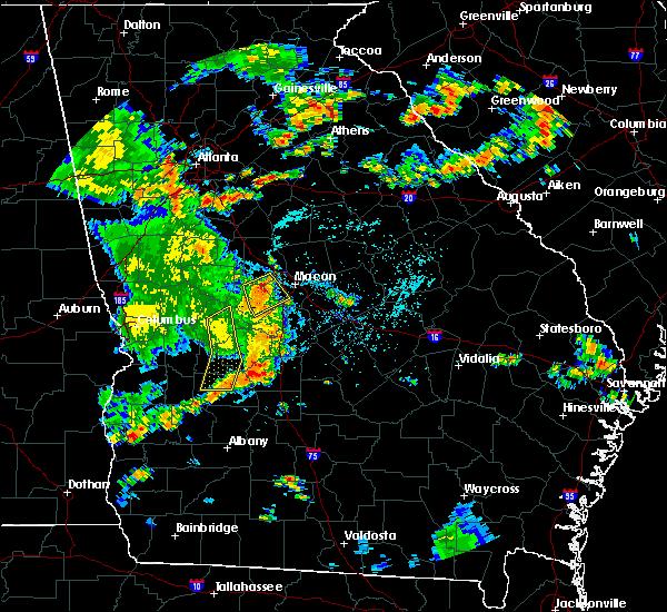Radar Image for Severe Thunderstorms near Roberta, GA at 6/7/2019 4:59 PM EDT