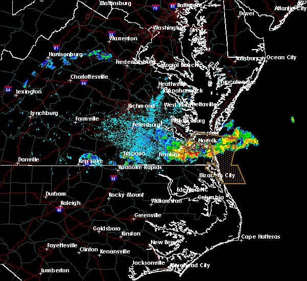 Radar Image for Severe Thunderstorms near Chesapeake, VA at 6/16/2015 10:28 PM EDT