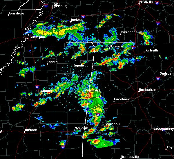 Radar Image for Severe Thunderstorms near Ethelsville, AL at 6/7/2019 5:28 PM CDT