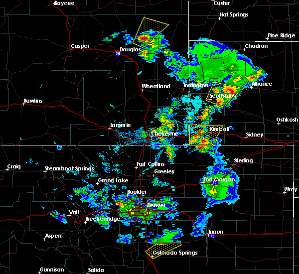 Radar Image for Severe Thunderstorms near Kimball, NE at 6/7/2019 4:40 PM MDT