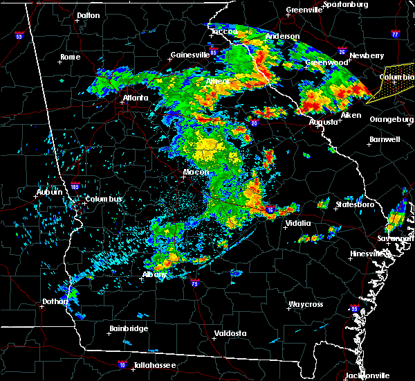 Radar Image for Severe Thunderstorms near Adrian, GA at 6/7/2019 6:43 PM EDT
