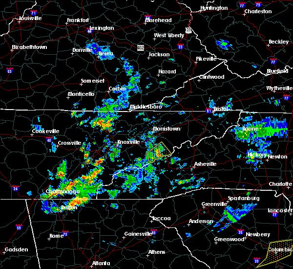 Radar Image for Severe Thunderstorms near Parrottsville, TN at 6/7/2019 6:42 PM EDT