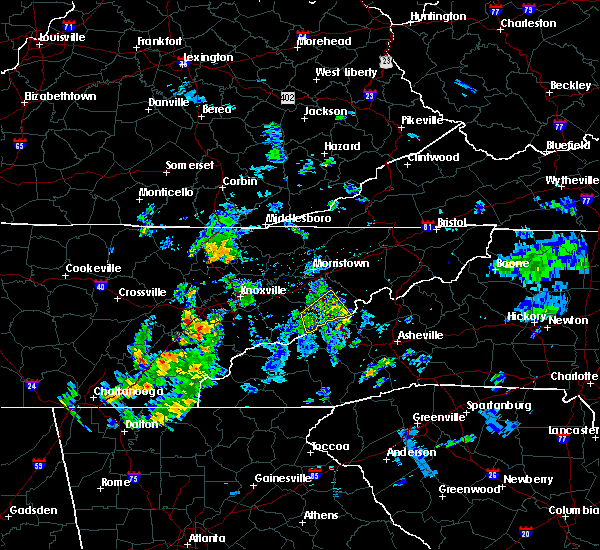 Radar Image for Severe Thunderstorms near Newport, TN at 6/7/2019 7:10 PM EDT