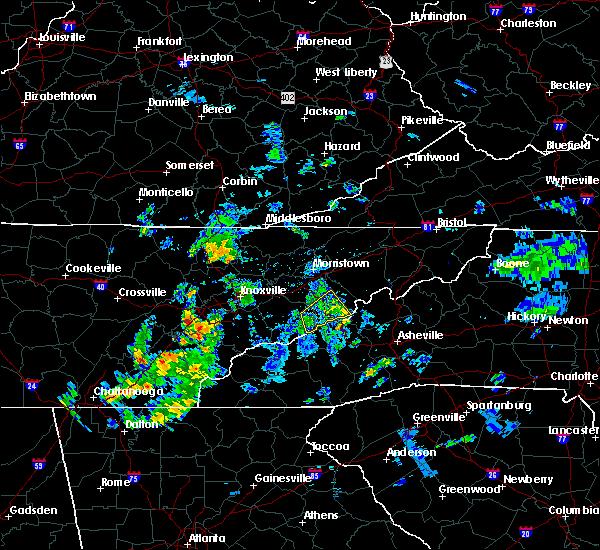 Radar Image for Severe Thunderstorms near Parrottsville, TN at 6/7/2019 7:10 PM EDT
