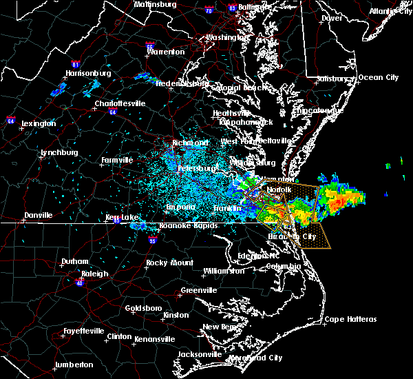 Radar Image for Severe Thunderstorms near Chesapeake, VA at 6/16/2015 10:55 PM EDT