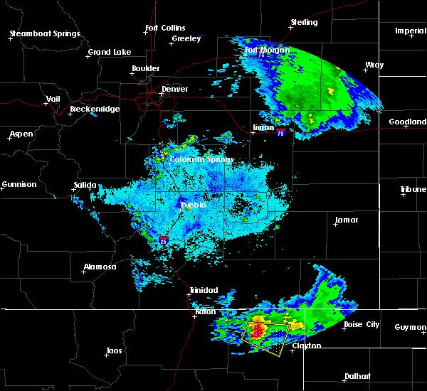 Radar Image for Severe Thunderstorms near Grenville, NM at 6/7/2019 9:32 PM MDT