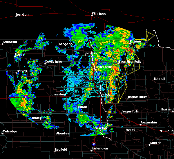 Radar Image for Severe Thunderstorms near Warroad, MN at 6/8/2019 3:21 PM CDT