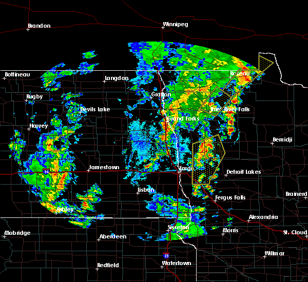 Radar Image for Severe Thunderstorms near Thief River Falls, MN at 6/8/2019 3:50 PM CDT