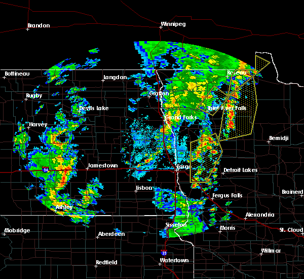 Radar Image for Severe Thunderstorms near Warroad, MN at 6/8/2019 3:59 PM CDT