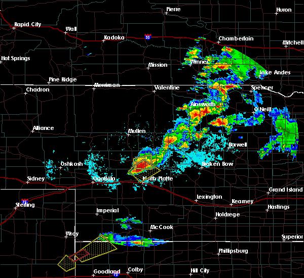Radar Image for Severe Thunderstorms near North Platte, NE at 6/8/2019 4:47 PM CDT