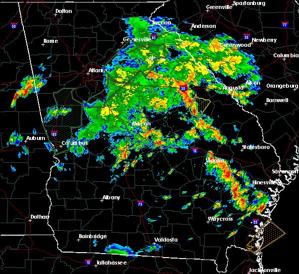 Radar Image for Severe Thunderstorms near Stapleton, GA at 6/8/2019 6:19 PM EDT