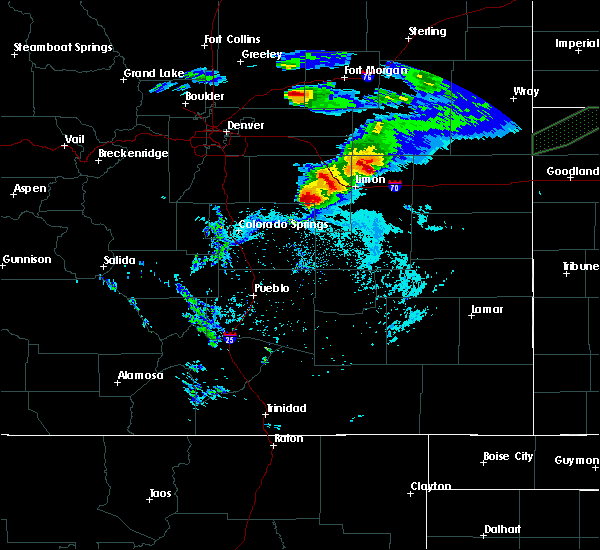 Radar Image for Severe Thunderstorms near Ramah, CO at 6/8/2019 7:04 PM MDT