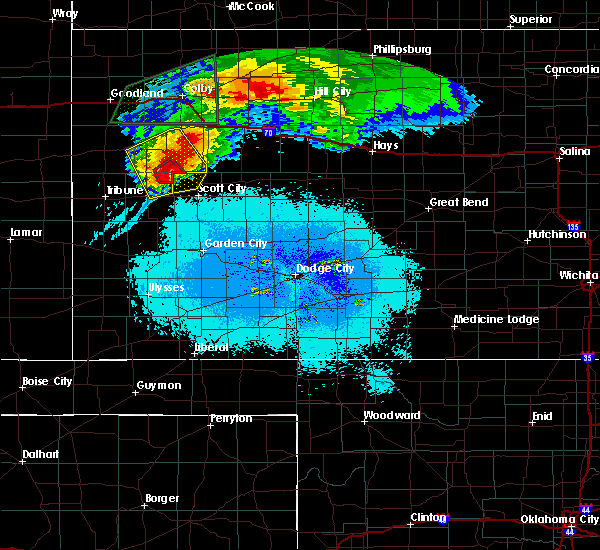 Radar Image for Severe Thunderstorms near Healy, KS at 6/8/2019 11:32 PM CDT