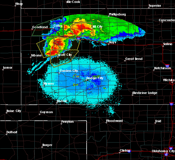 Radar Image for Severe Thunderstorms near Healy, KS at 6/8/2019 11:46 PM CDT