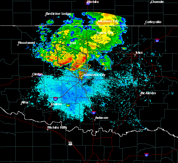 Radar Image for Severe Thunderstorms near Arcadia, OK at 6/9/2019 8:03 AM CDT