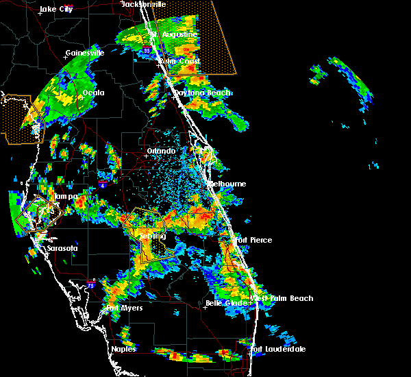 Radar Image for Severe Thunderstorms near Malabar, FL at 6/9/2019 1:47 PM EDT