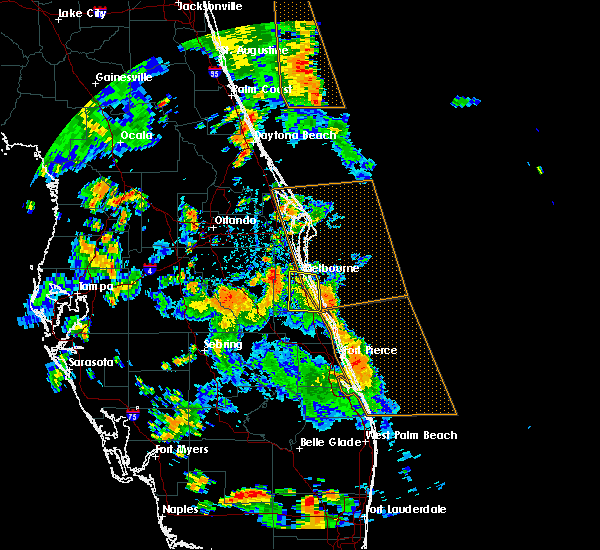 Radar Image for Severe Thunderstorms near Malabar, FL at 6/9/2019 2:24 PM EDT