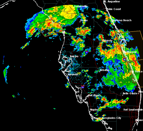 Radar Image for Severe Thunderstorms near Wildwood, FL at 6/9/2019 2:47 PM EDT