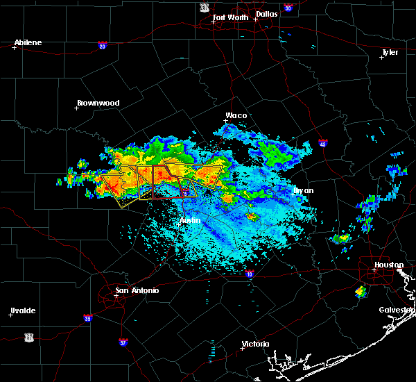 Radar Image for Severe Thunderstorms near Georgetown, TX at 6/9/2019 6:07 PM CDT