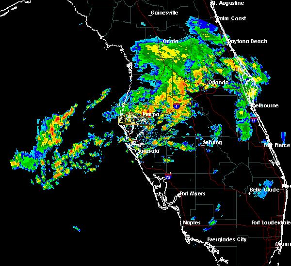 Radar Image for Severe Thunderstorms near Tampa, FL at 6/9/2019 7:53 PM EDT