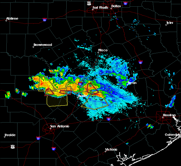 Radar Image for Severe Thunderstorms near Lago Vista, TX at 6/9/2019 6:57 PM CDT