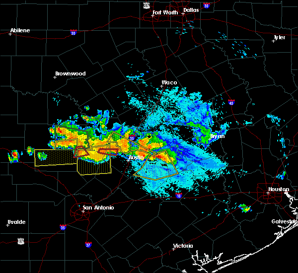 Radar Image for Severe Thunderstorms near Round Rock, TX at 6/9/2019 7:03 PM CDT